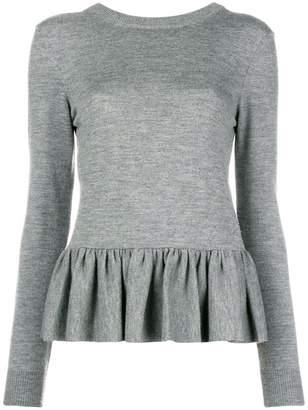 Chloé peplum longsleeve knit top