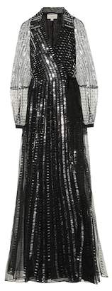 Temperley London Jet sequined silk gown