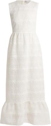 REDVALENTINO Floral macramé-lace maxi dress $702 thestylecure.com