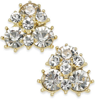 Charter Club Gold-Tone Crystal Cluster Stud Earrings