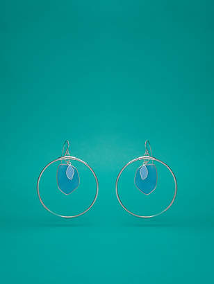 Diane von Furstenberg Hoop Stone Earrings