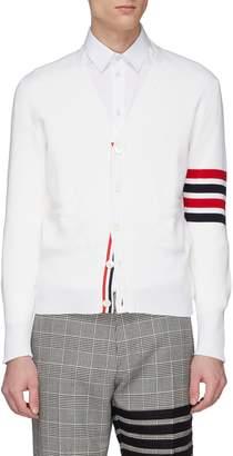 Thom Browne Stripe sleeve wool cardigan