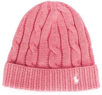 Ralph Lauren logo knitted beanie