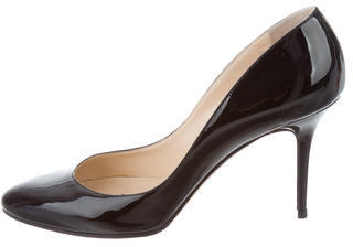 Jimmy Choo Jimmy Choo Patent Leather Round-Toe Pumps