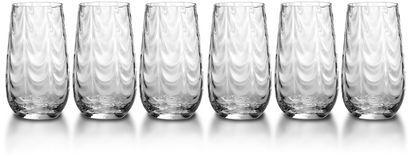 Mikasa Pebblestone Highball Glasses, Set of 6
