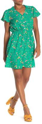 WEST KEI Floral Notch Collar Dress