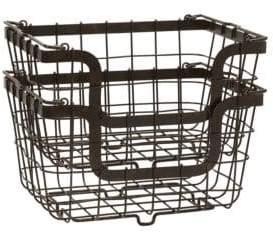 Mikasa Gourmet Basics General Wire Storage Baskets- Set of Two