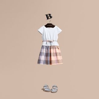 Burberry Check Cotton Dress with Cap Sleeves $185 thestylecure.com