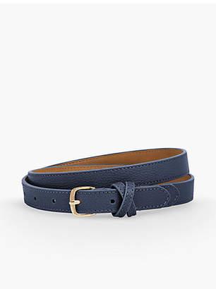 Talbots Plus Size Casual Skinny Pebble Leather Belt