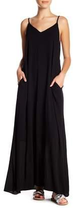 WEST KEI V-Neck Gauze Maxi Dress (Petite)