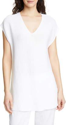 Eileen Fisher V-Neck Organic Linen & Cotton Tunic