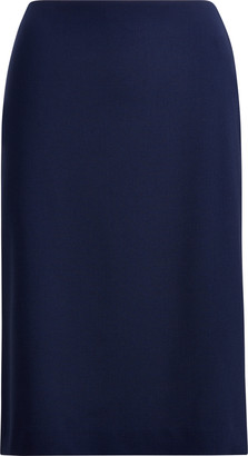 Ralph Lauren Cindy Stretch Wool Crepe Skirt