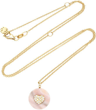Coexist Noush Jewelry Heart On Pink Opal Necklace