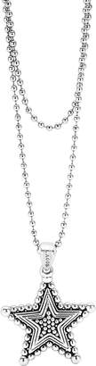 Lagos Sterling Silver Rare Wonders Celestial Star Pendant Necklace, 34