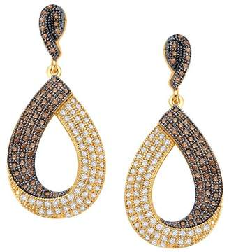 Lafonn 18K Gold Vermeil & Black Rhodium Plated Sterling Silver Simulated Diamond Pear Drop Earrings
