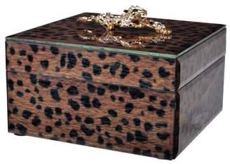A&B Home Safari Leopard Box Square