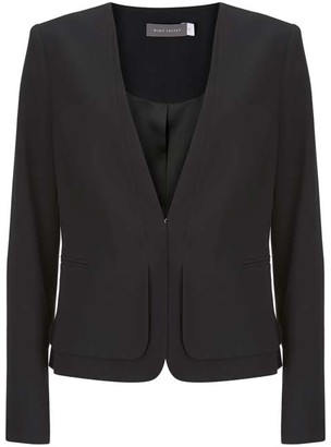 Mint Velvet Black Clean Cut Crepe Blazer