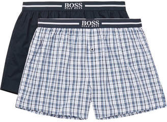 HUGO BOSS Two-Pack Cotton-Poplin Boxer Shorts