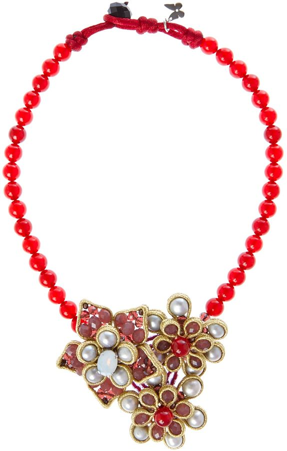 Max Mara Monica beaded necklace