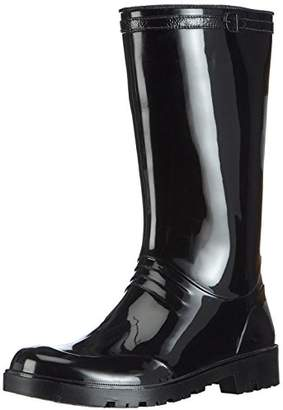 Chuva Women's IRIS DAMESLAARS PVC Unlined Rubber Boots Half Shaft Boots & Bootees Black Size: 6