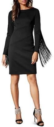 Karen Millen Fringe-Trim Dress