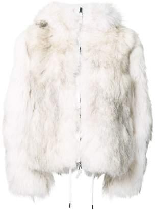 Kru reversible coyote fur camouflage jacket