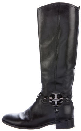 Tory BurchTory Burch Leather Logo Riding Boots