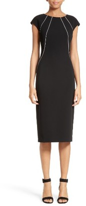 Women's Lafayette 148 New York Contrast Piping Deloris Dress $498 thestylecure.com