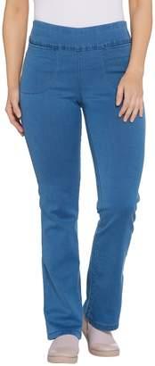 Denim & Co. Active Regular Denim Yoga Pants with Front Pockets
