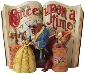 """Disney Traditions by Jim Shore """"Beauty and the Beast"""" Storybook Stone Resin Figurine"""