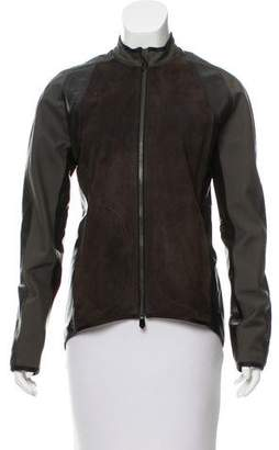 Reed Krakoff Leather & Suede-Accented Jacket