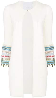 Giada Benincasa embellished and embroidered sleeves cardigan
