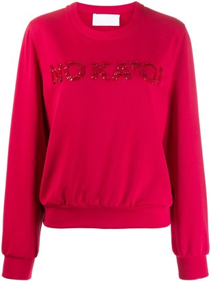 NO KA 'OI No Ka' Oi sequin embroidered sweatshirt
