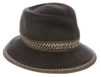 Eric Javits Straw-Trimmed Raffia Hat