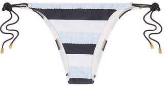 Vix Sea Glass Striped Striped Bikini Briefs - Sky blue