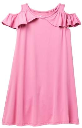 Poof Ruffle Cold-Shoulder Dress (Big Girls)