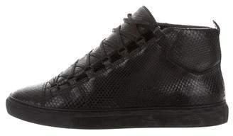 Balenciaga Snakeskin Arena Sneakers