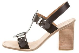 Marc by Marc Jacobs Leather T-Strap Sandals $95 thestylecure.com