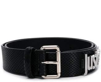 Just Cavalli black logo belt