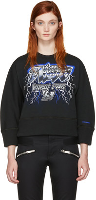 Dsquared2 Black 'Twins World Tour' Pullover $390 thestylecure.com