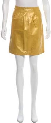 Henri Bendel Leather Mini Skirt