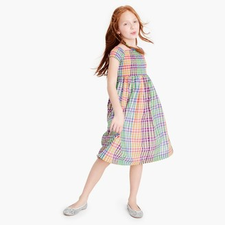Girls' smocked dress in rainbow check $69.50 thestylecure.com