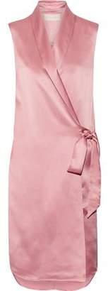 Michelle Mason Silk-Charmeuse Wrap Vest