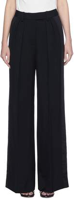 Alexander Wang Stripe outseam wide leg twill suiting pants