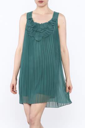 Blu Pepper Pleated Tunic Dress
