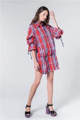 Sonia Rykiel Taffeta Tartan Mini Dress