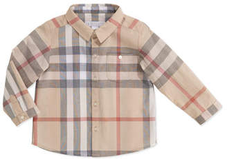Burberry Trauls Pale Check Shirt, 3-24 Months