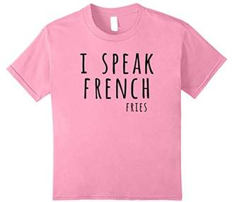 I Speak French Fries Tee Shirt