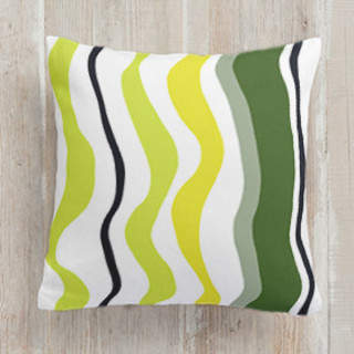 Summer Waves Square Pillow