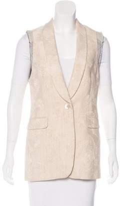 Dries Van Noten Button-Up Jacquard Vest